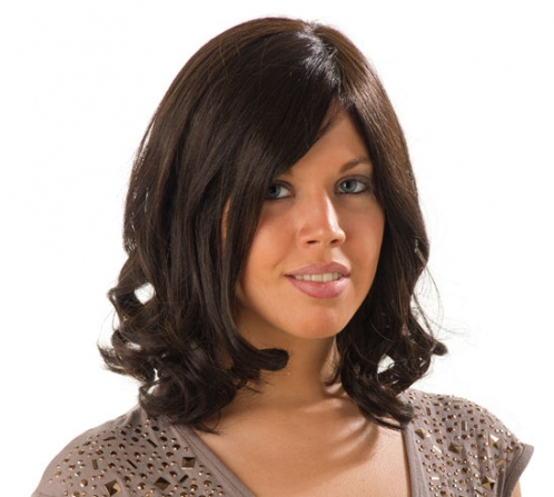 Wigs, everyday , human hair, long, monofilament and wefted