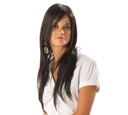 Promotions, everyday , human hair, short, straight, Handmade