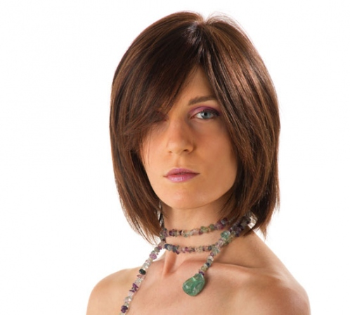 Wigs, everyday , synthetic hair, medium, long, straight, Handmade