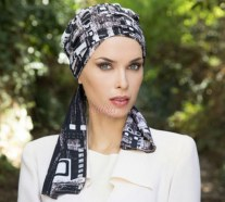 Long bands turban Aurora style MINERVA
