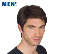 MH-FILA | Synthetic Hair Man Wig with Cinema Lace