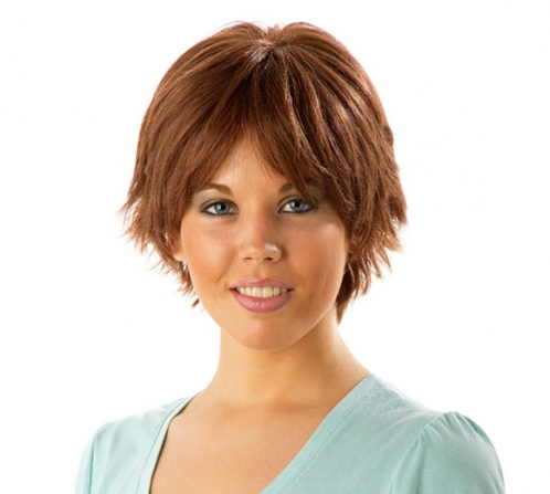 Wigs, everyday , human hair, short, monofilament and wefted