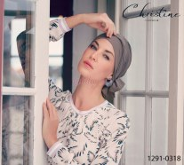 Turbante con code lunghe BEATRICE Christine Headwear Style 1291-0318 Body Balance Line 37.5 Technology
