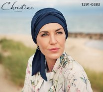 Turbante con code lunghe BEATRICE Christine Headwear Style 1291-0383 Body Balance Line 37.5 Technology